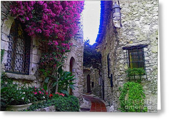 Magical Beauty In Eze France Greeting Card