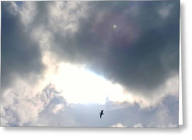 Magical #clouds Today :-) #sky #weather Greeting Card