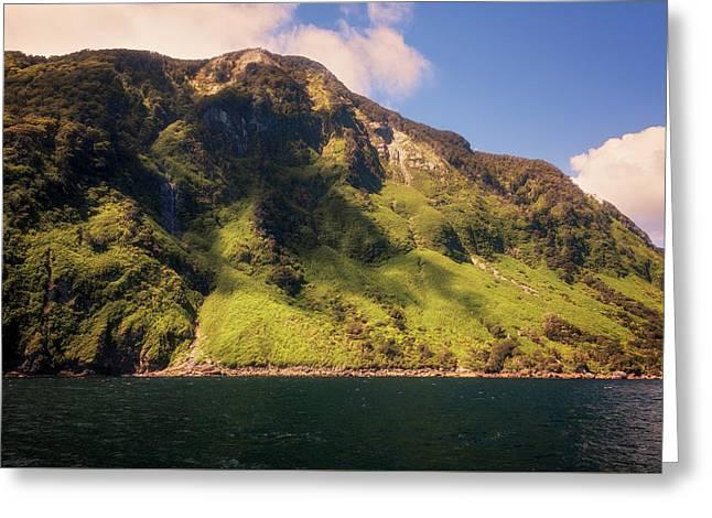 Magical Doubtful Sound New Zealand Greeting Card by Joan Carroll