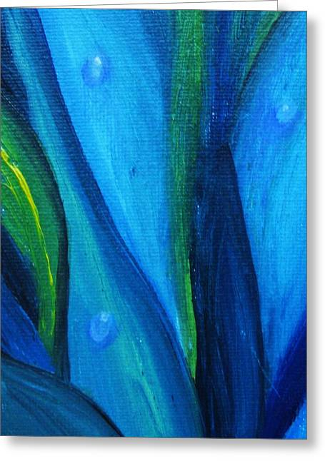 Greeting Card featuring the painting Magical Drip by Trilby Cole