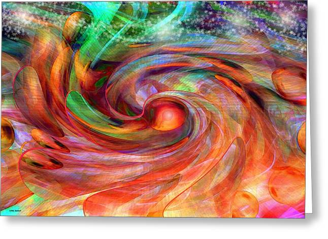 Magical Energy Greeting Card by Linda Sannuti