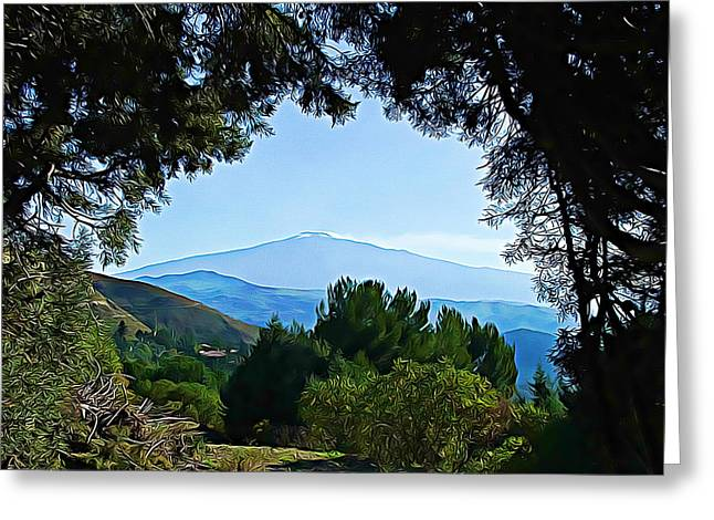 Greeting Card featuring the photograph Magical Etna by Lucia Sirna