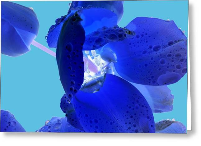 Magical Flower I - Blue Velvet Greeting Card