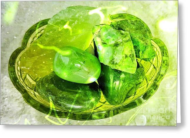 Magical Gemstones Greeting Card