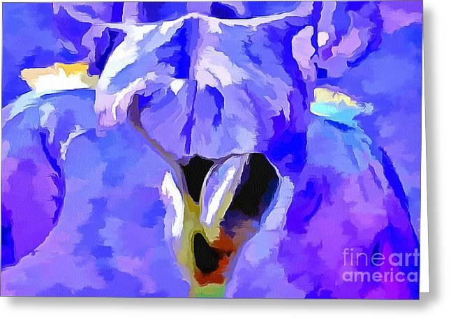 Magical Iris Greeting Card by Krissy Katsimbras