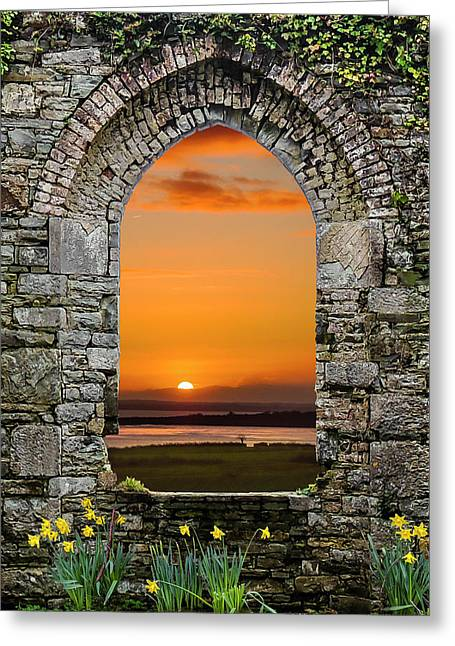 Greeting Card featuring the photograph Magical Irish Spring Sunrise by James Truett