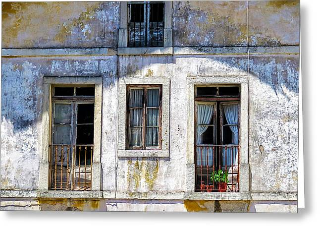 Greeting Card featuring the photograph Magical Light On Sintra Windows by Marion McCristall