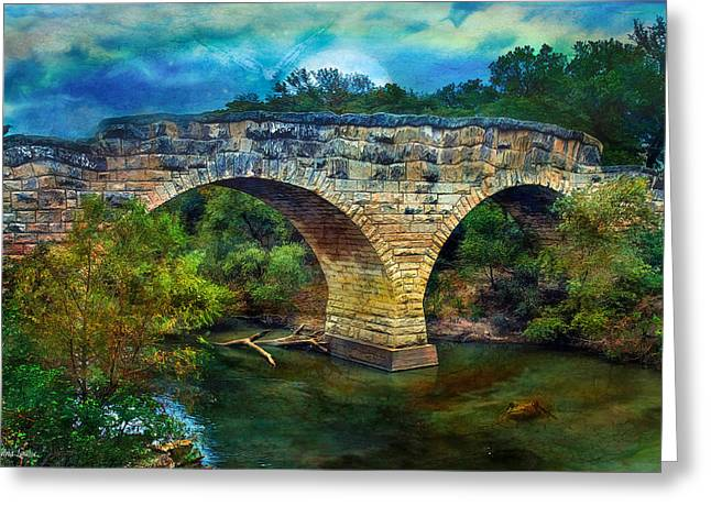 Magical Middle Of Nowhere Bridge Greeting Card