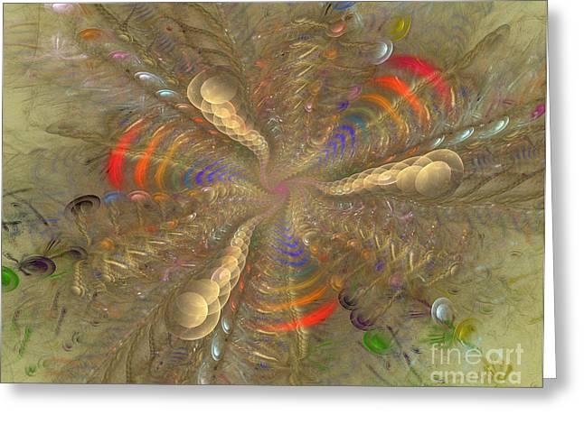 Framed Fractal Prints Greeting Cards - Magical Moment Greeting Card by Deborah Benoit