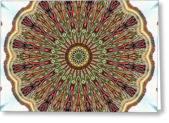 Magical Mosaic - Shamanic Power Circle 1 Greeting Card