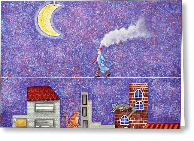 Magical Night Greeting Card by Graciela Bello