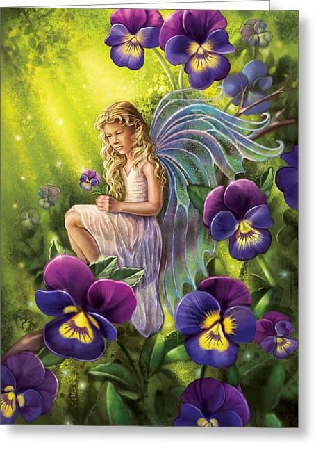 Magical Pansies Greeting Card