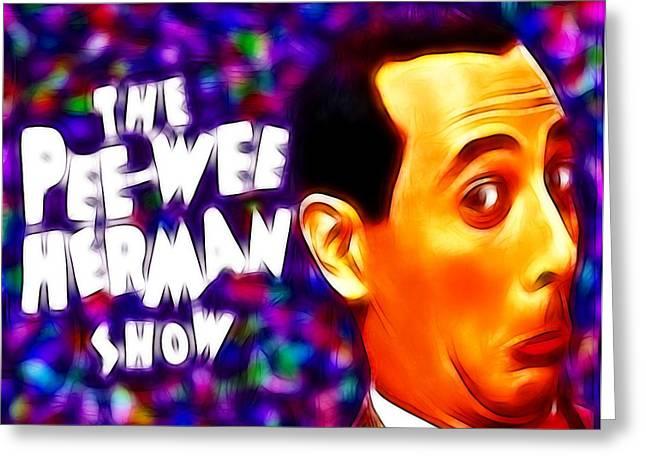 Magical Pee Wee Herman Greeting Card by Paul Van Scott