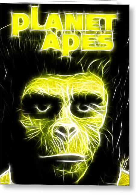 Magical Planet Of The Apes Greeting Card by Paul Van Scott