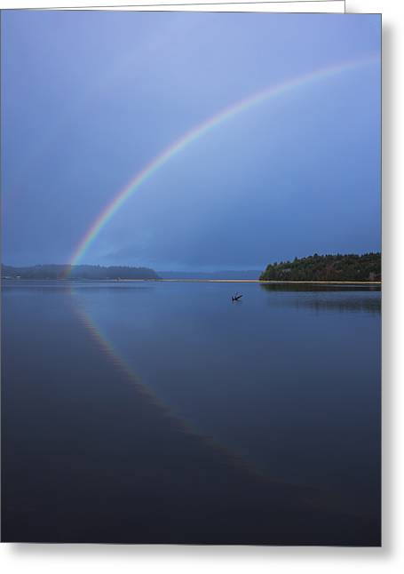 Magical Rainbow Reflection Greeting Card by Loree Johnson