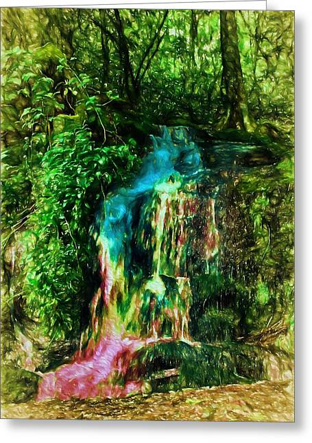 Magical Rainbow Waterfalls Greeting Card