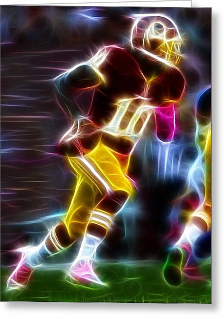 Magical Rg3 Run Greeting Card by Paul Van Scott