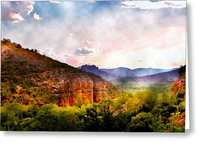 Magical Sedona Greeting Card by Ellen Heaverlo