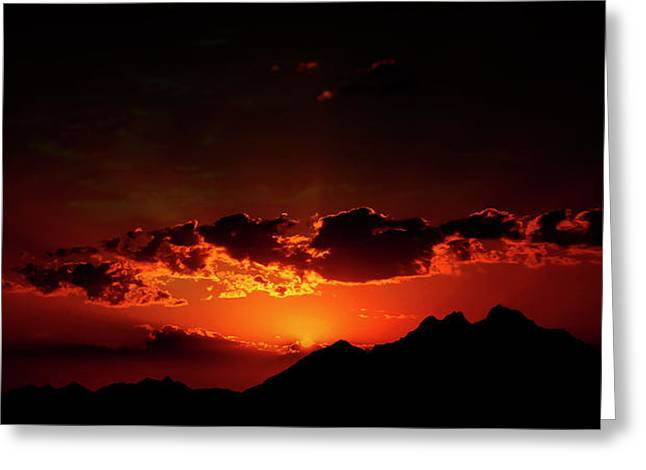 Magical Sunset In Africa 2 Greeting Card