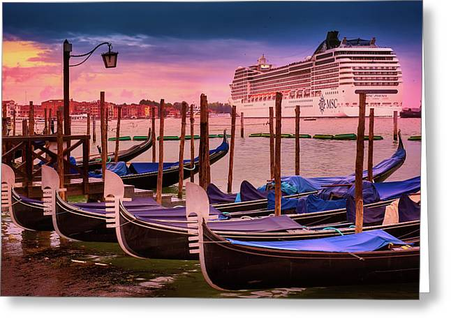 Magical Sunset In Venice Greeting Card