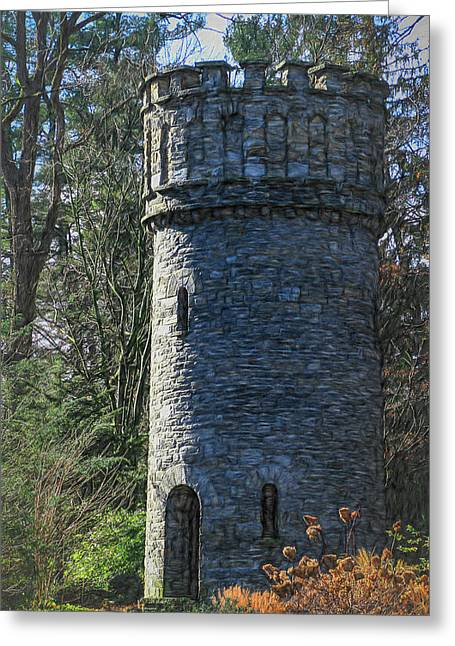 Magical Tower Greeting Card by Patrice Zinck