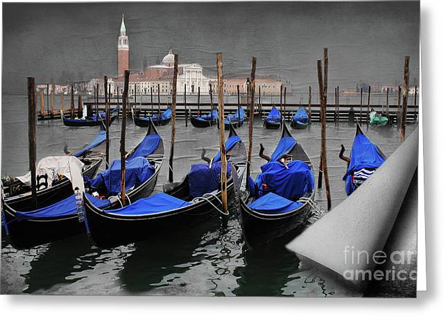 Magical Venice Greeting Card by Bob Christopher