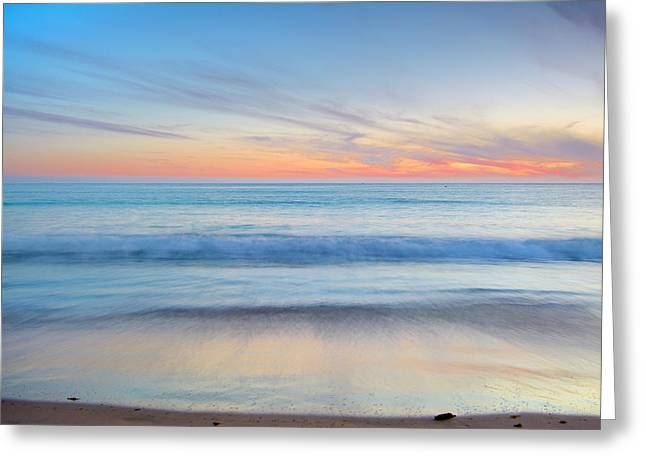 Magical Waves Tarifa Beach At Sunset Greeting Card