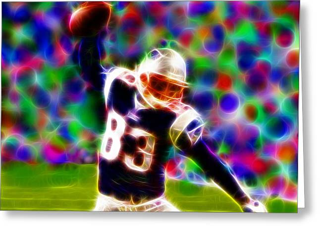 Magical Wes Welker  Greeting Card by Paul Van Scott