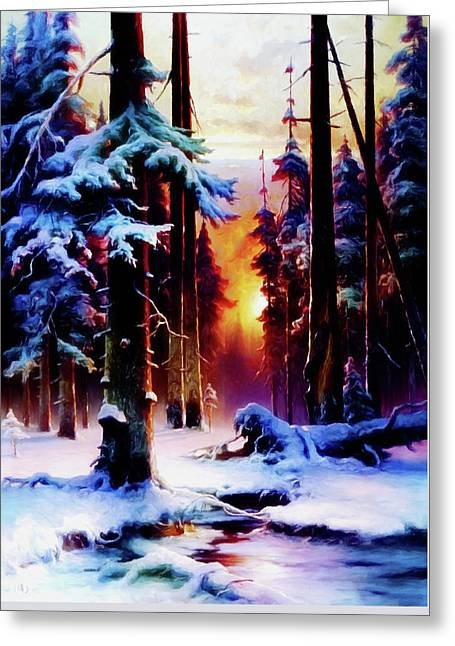 Magical Winter Night Greeting Card
