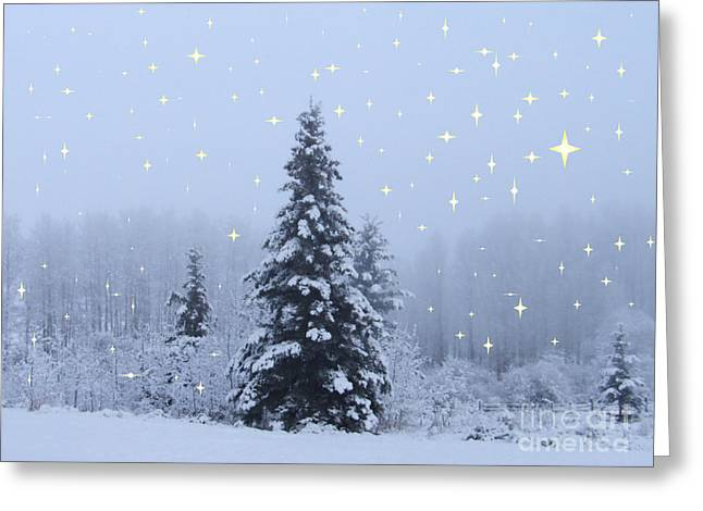 Magical Winterscape Greeting Card