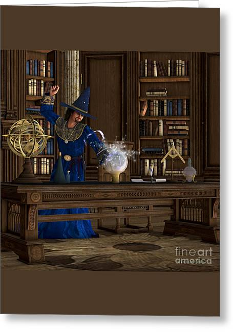 Magician Greeting Card by Corey Ford