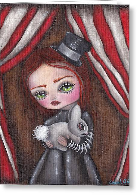 Magician Girl Greeting Card by  Abril Andrade Griffith