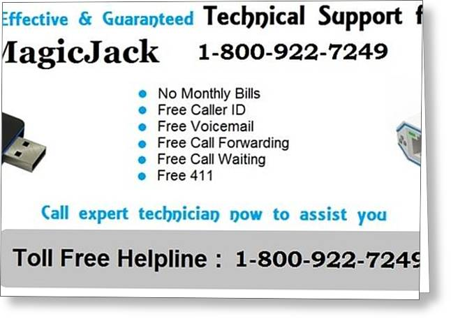 Magicjack Technical Support Phone Number 1-800-922-7249 Greeting Card