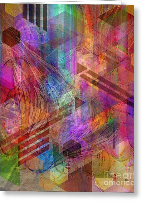 Magnetic Abstraction Greeting Card by John Beck