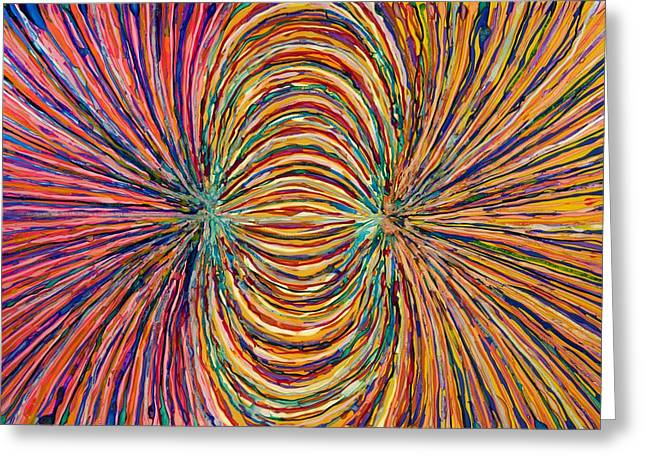 Magnetic Strings Greeting Card by Patrick OLeary