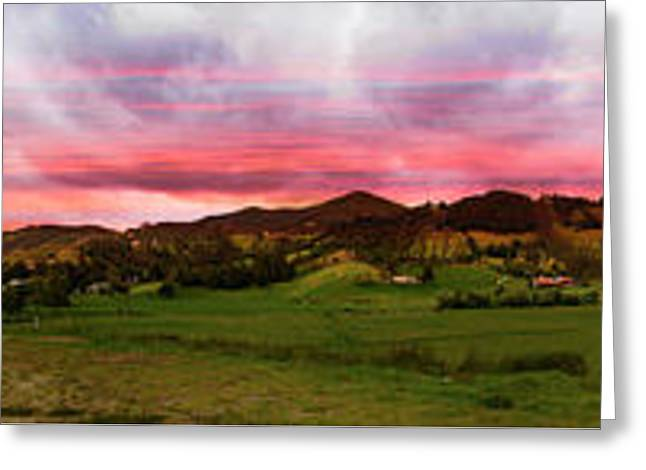 Magnificent Andes Valley Panorama Greeting Card by Al Bourassa