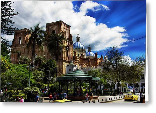 Magnificent Center Of Cuenca, Ecuador IIi Greeting Card by Al Bourassa