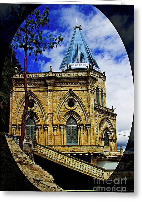 Magnificent Church Of Biblian Greeting Card by Al Bourassa