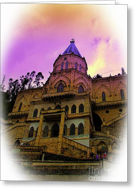 Greeting Card featuring the photograph Magnificent Church Of Biblian II by Al Bourassa