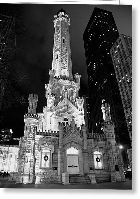 Magnificent Mile Old Water Tower - Chicago Greeting Card by Daniel Hagerman