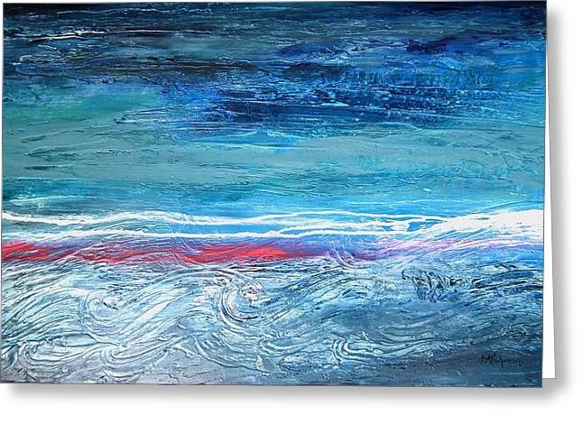 Magnificent Morning Abstract Seascape Greeting Card