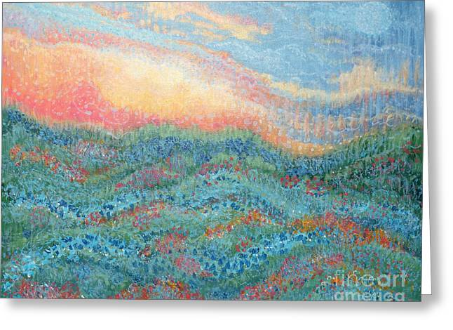 Magnificent Sunset Greeting Card by Holly Carmichael