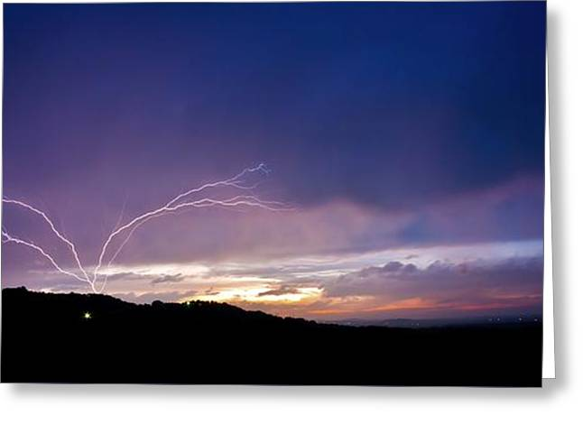 Magnificent Sunset Lightning Greeting Card