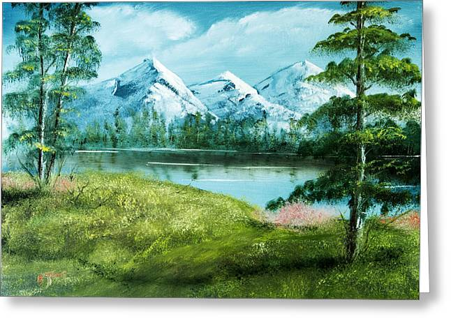 Magnificent Vista - Mountain Landscape Greeting Card by Barry Jones