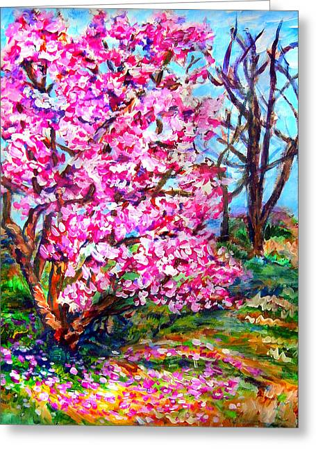 Magnolia - Early Spring Greeting Card by Laura Heggestad