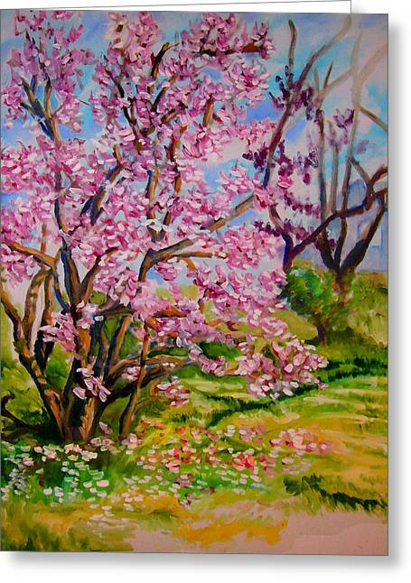 Magnolia - Late Spring Greeting Card by Laura Heggestad