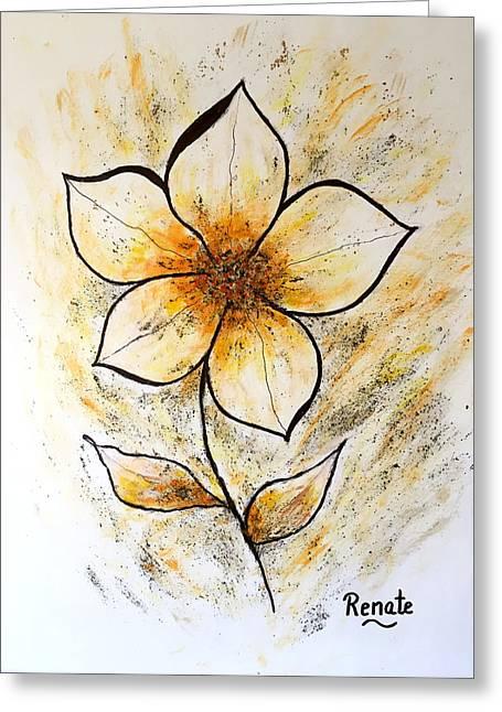 Magnolia Art-flower Greeting Card