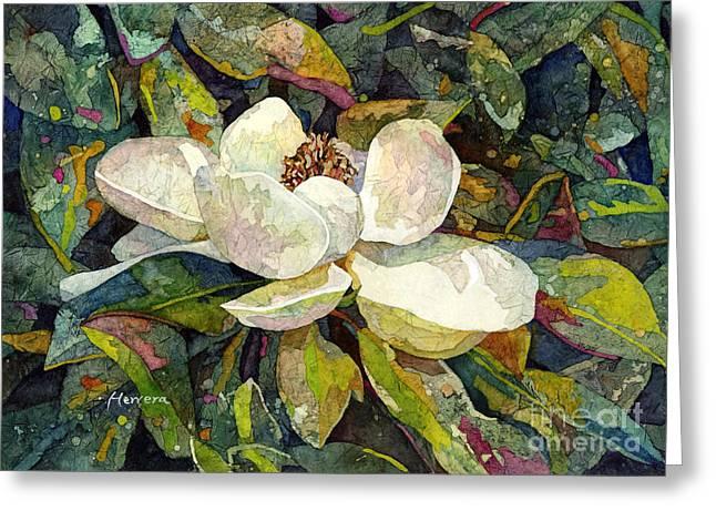 Magnolia Blossom Greeting Card by Hailey E Herrera