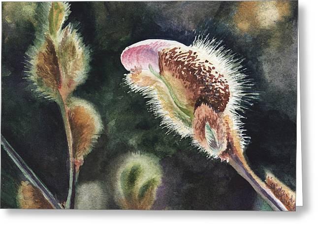Magnolia Bud By Irina Sztukowski  Greeting Card by Irina Sztukowski