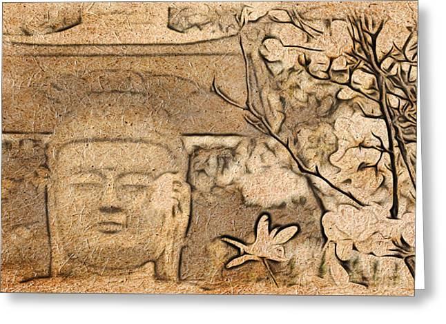 Magnolia Buddha Greeting Card